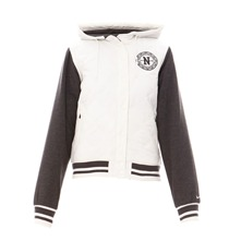 Blouson Varsity Bomber beige et gris