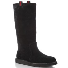 Women footwear: Black Suede Boots