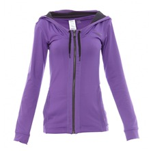 Veste zippe  capuche violette