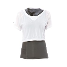 T-shirt 2 en 1 Easytone gris et blanc