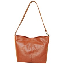 Women bags: Brown Leather Square Tote Bag