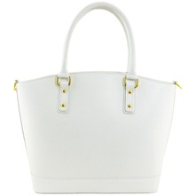 Women bags: White Leather Handbag