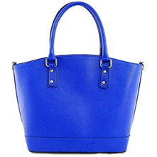 Women bags: Electric Blue Leather Handbag