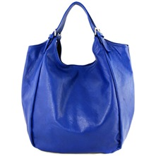 Women bags: Blue Leather Hobo Bag