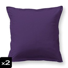 Lot de 2 taies d'oreiller violettes
