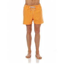 Short de bain orange  rayures