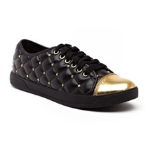 Baskets MK Quilted en cuir matelass noir