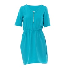 Robe en crpe turquoise