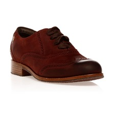 Derbies Clarement Brogue en cuir cerise