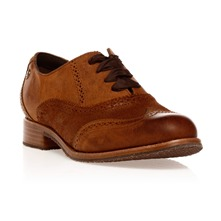 Derbies Claremont Brogue en cuir cannelle