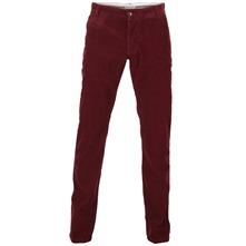 Pantalon L34 Three paris en velours bordeaux