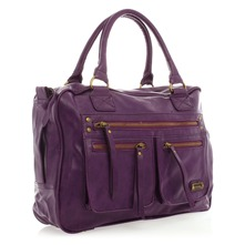 Sac  triple poches violet