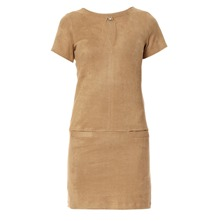 Robe stretch Ribiere en velours taupe