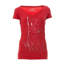 T-shirt Glamour rouge