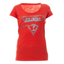 T-shirt pailleté Sandstorm rouge