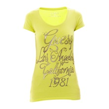 T-shirt stretch Elita jaune citron
