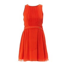 Robe plissée Mariapaz en mousseline orange