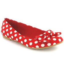Women footwear: Red Vera Spot Dot Pumps