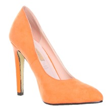 Women footwear: Orange Court Shoes 10cm Heel