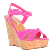 Women footwear: Pink Multi Strap Shoes 9cm Heel