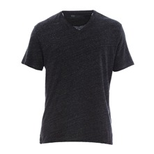 T-shirt col V Mission noir