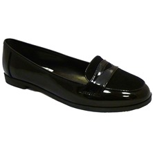 Women footwear: Black Patent Loafers