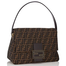 Women bags: Brown Classic Print Flap Handbag