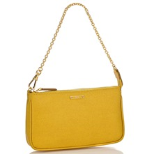 Women bags: Yellow Leather Evening Bag