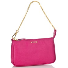 Women bags: Pink Leather Evening Bag