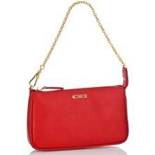 Women bags: Red Leather Evening Bag