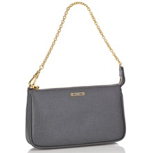 Women bags: Grey Leather Evening Bag