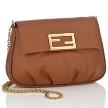 Women bags: Brown Leather Mini Pouch Handbag