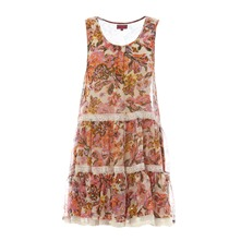 Robe  imprim fleuri rose