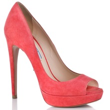 Women footwear: Coral Suede Shoes 10cm Heel