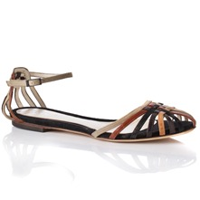 Women footwear: Multicoloured Leather Strap Sandals
