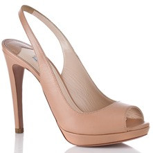 Women footwear: Pink Leather Sandals 10cm Heel