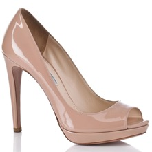 Women footwear: Pink Leather Patent Shoes 12cm Heel