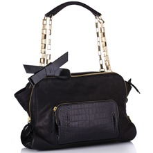 Women bags: Black Chain Leather Handbag