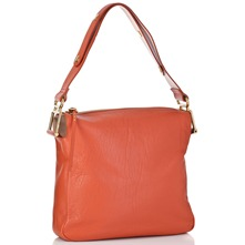 Women bags: Coral Vanessa Leather Square Shoulder Bag