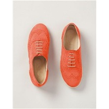 Derbies  en cuir orange
