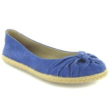 Women footwear: Blue Cling Washed Canvas Shoes