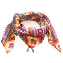 Foulard aztèque multicolore