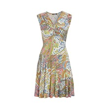 Robe imprimée multicolore