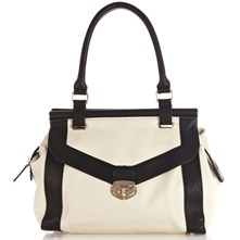 Women bags: White/Black The Sundown Shoulder Bag