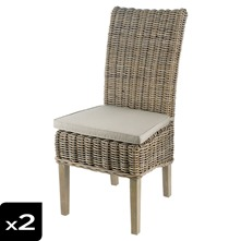 Lot de 2 chaises en split kubu