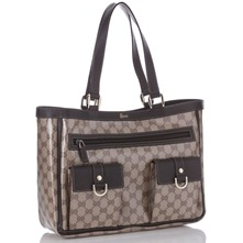 Women bags: Taupe/Brown Printed Crystal Handbag
