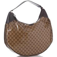 Women bags: Taupe/Brown Printed Crystal Hobo Bag