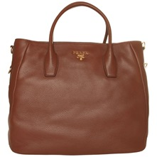 Women bags: Brown Leather Tote Bag