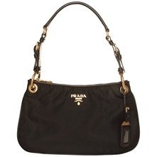Women bags: Black Fabric Small Shoulder Bag