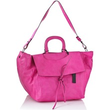 Women bags: Hot Pink Leather SBox Handbag